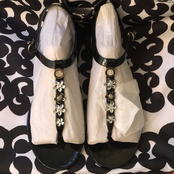 f773cef2c58 Guess Shoes - Guess Addison Jeweled Jelly Flat Sandals 10
